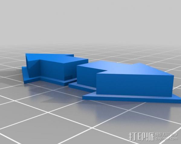 Reddit赞成/否决按钮外壳 3D模型  图2