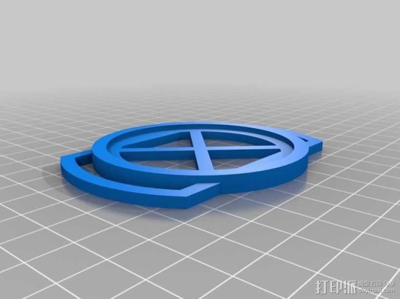 相机镜头盖座 3D模型  图4