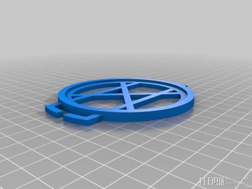 相机镜头盖座 3D模型  图5