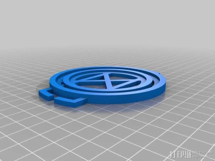 相机镜头盖座 3D模型  图6