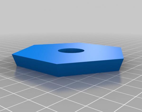 六边形弧状三脚架头装置板 3D模型  图3