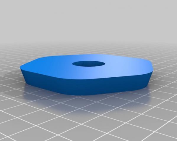 六边形弧状三脚架头装置板 3D模型  图2