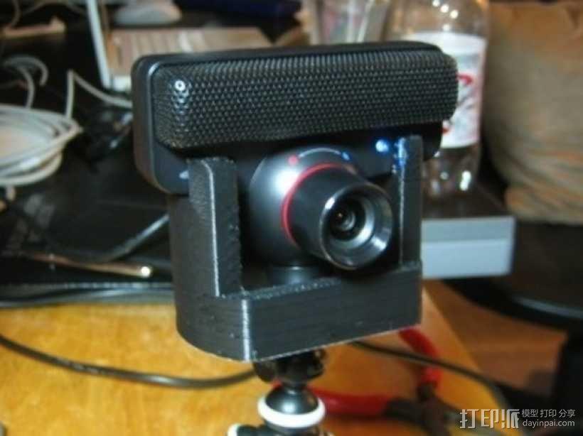 PS3 Eye摄像机三脚架 3D模型  图1