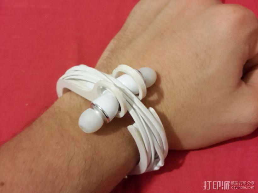 耳机理线环 3D模型  图1