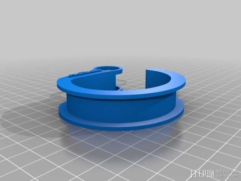 耳机理线环 3D模型  图3
