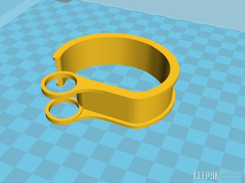 耳机理线环 3D模型  图11