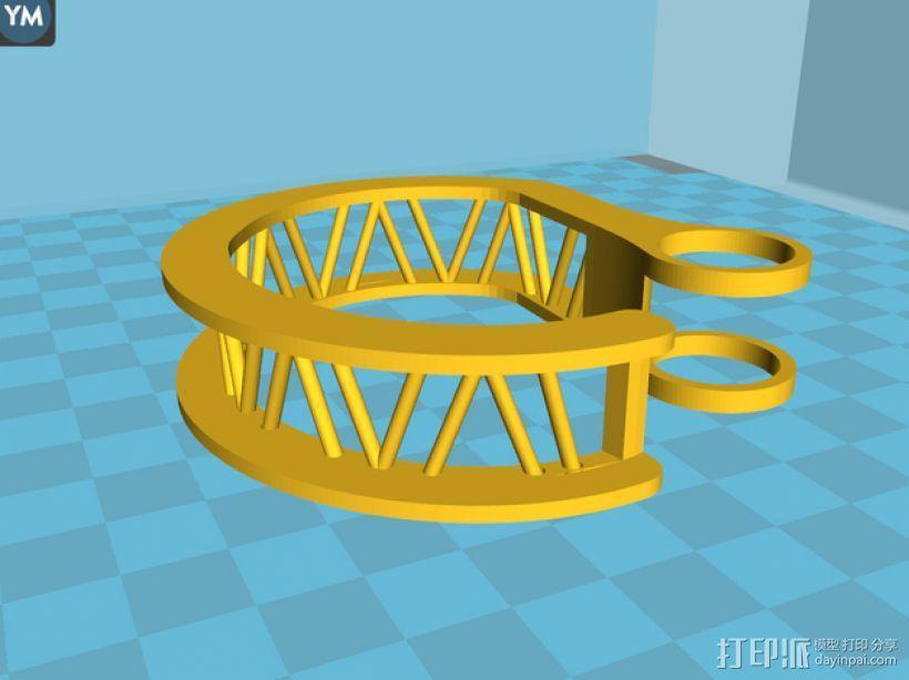 耳机理线环 3D模型  图10