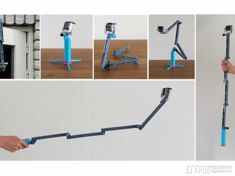 GoPro相机折叠支架 3D模型  图1