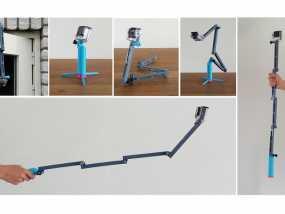 GoPro相机折叠支架 3D模型
