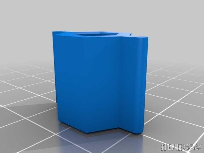 GoPro相机折叠支架 3D模型  图3