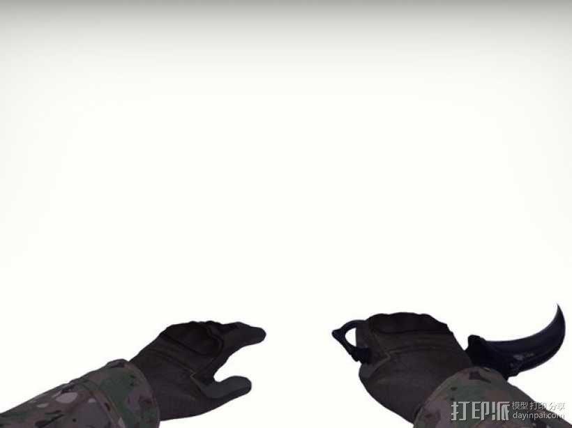 游戏《反恐精英:全球攻势(CS:GO)》爪刀 3D模型  图8
