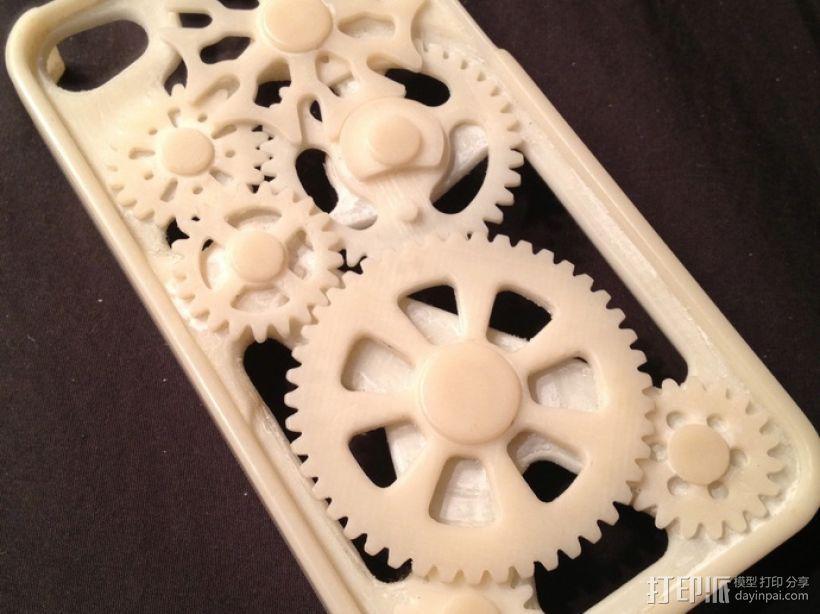 iPhone齿轮手机套 3D模型  图2