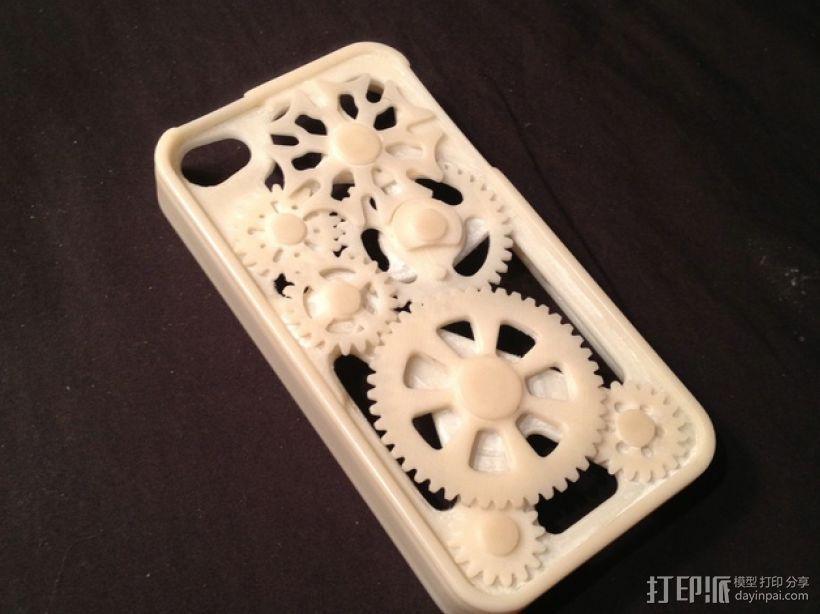 iPhone齿轮手机套 3D模型  图1