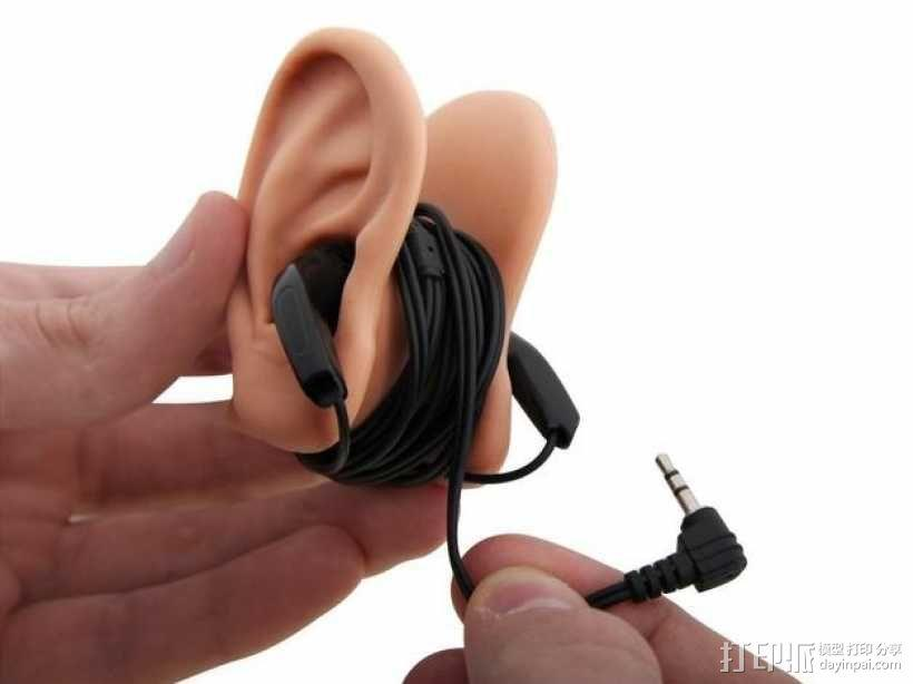 耳朵形耳机架 3D模型  图1