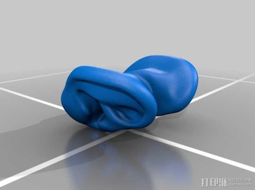 耳朵形耳机架 3D模型  图3
