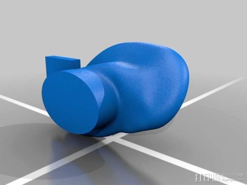 耳朵形耳机架 3D模型  图4