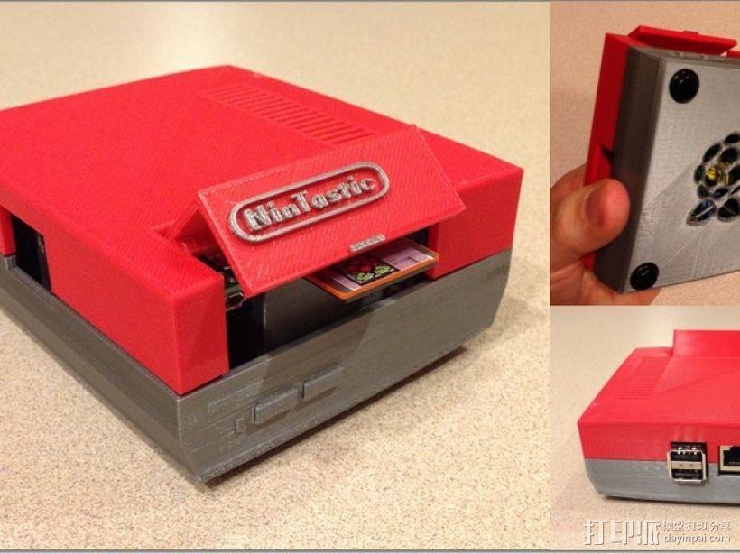 树莓派游戏机 3D模型  图1