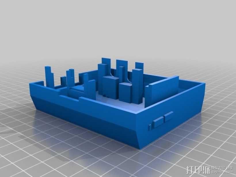 树莓派游戏机 3D模型  图11