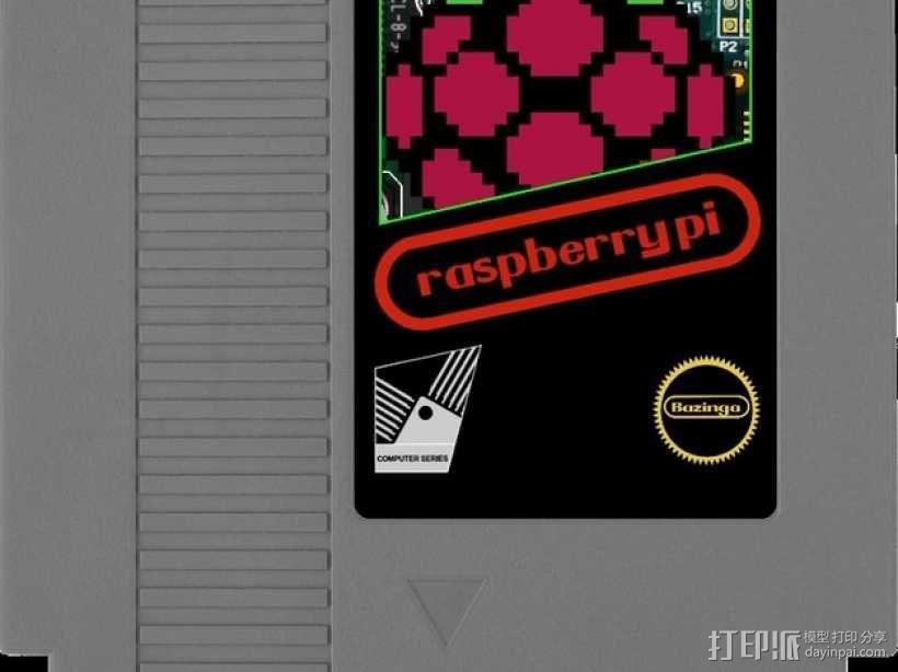树莓派游戏机 3D模型  图28