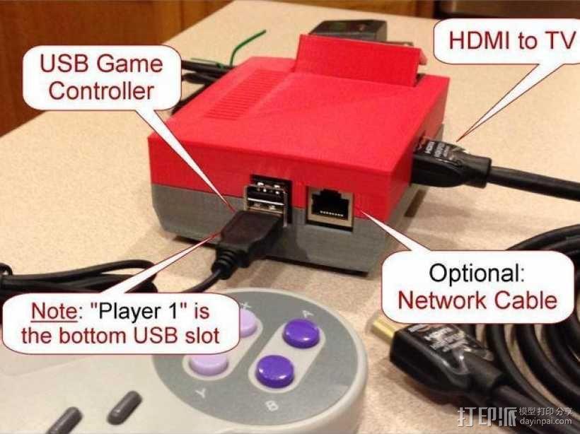 树莓派游戏机 3D模型  图33
