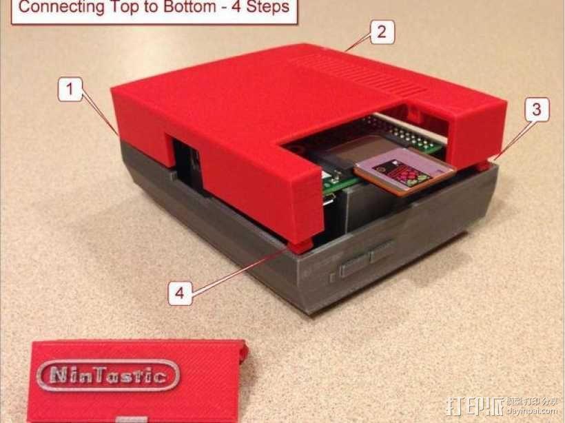 树莓派游戏机 3D模型  图31