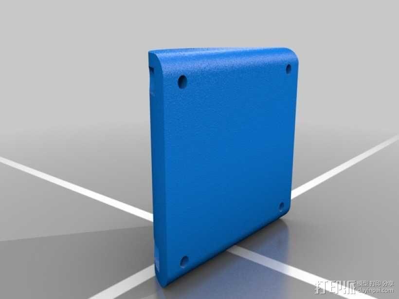 火箭形Go Pro相机外壳 3D模型  图2
