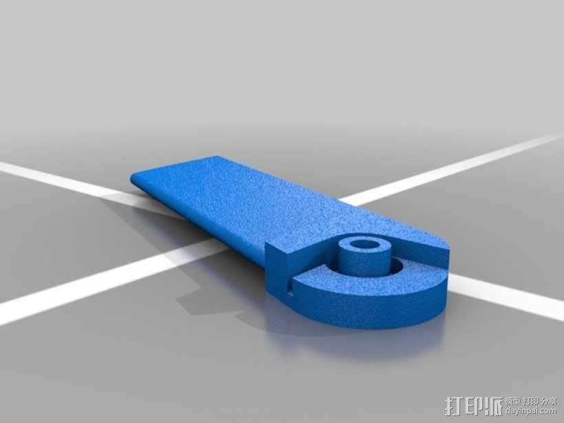 火箭形Go Pro相机外壳 3D模型  图3