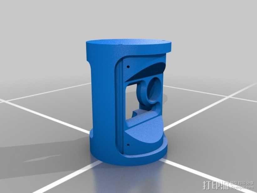 火箭形Go Pro相机外壳 3D模型  图5