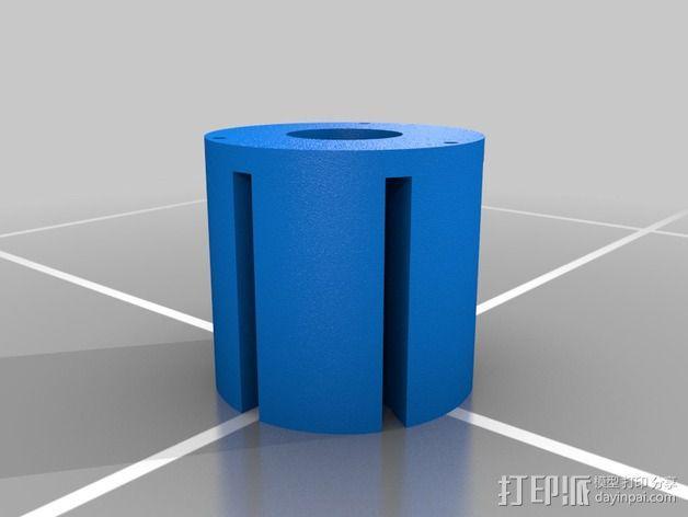 火箭形Go Pro相机外壳 3D模型  图7