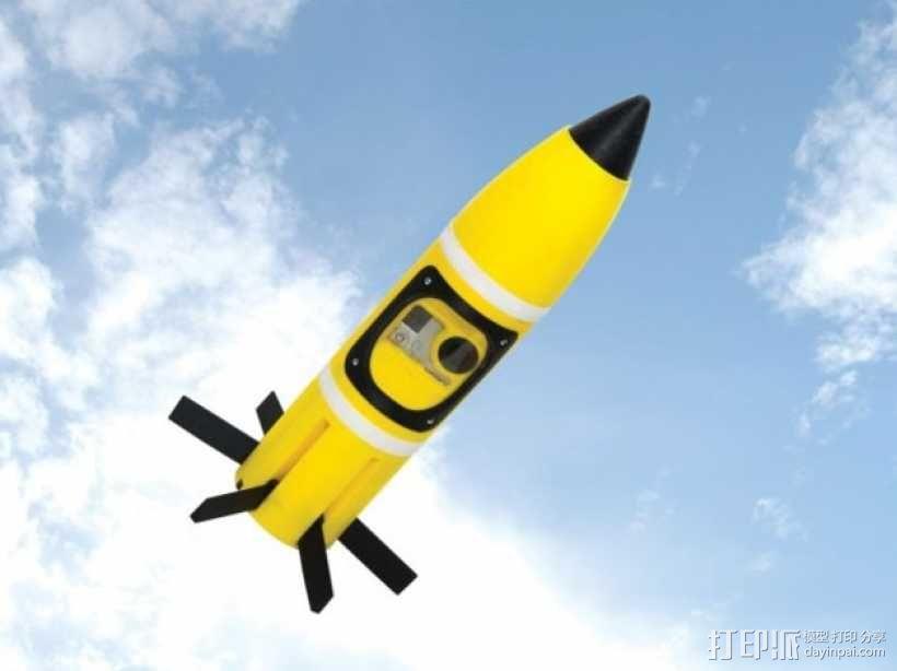 火箭形Go Pro相机外壳 3D模型  图12