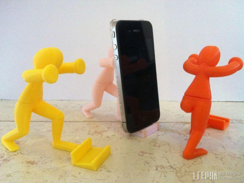 人力手机架 3D模型  图1
