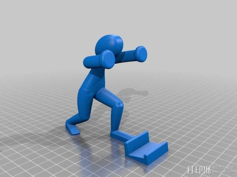 人力手机架 3D模型  图2