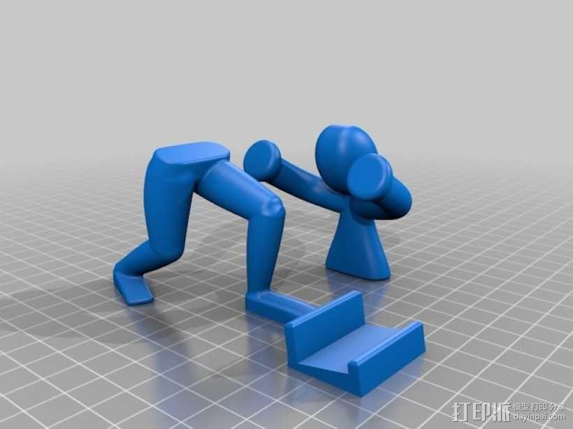 人力手机架 3D模型  图3