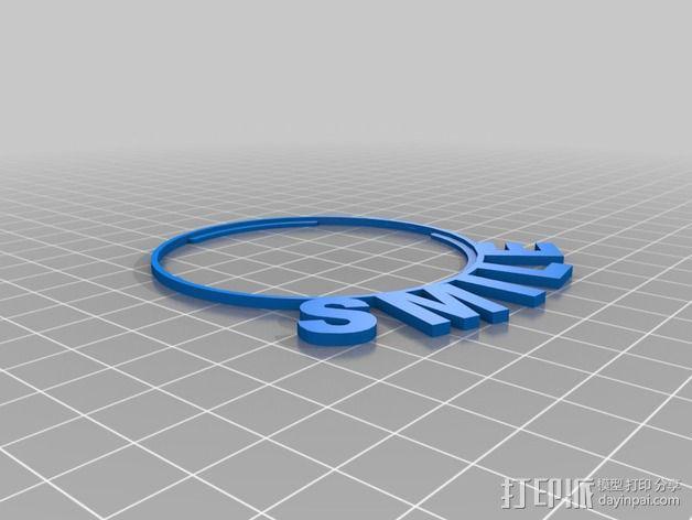 佳能T3i相机透镜遮光罩 3D模型  图2