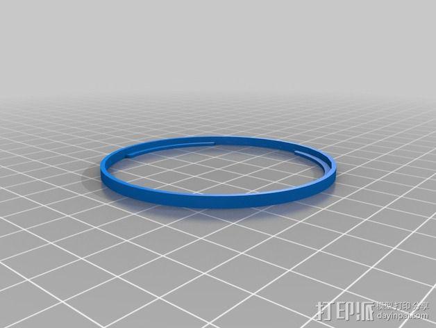 佳能T3i相机透镜遮光罩 3D模型  图3