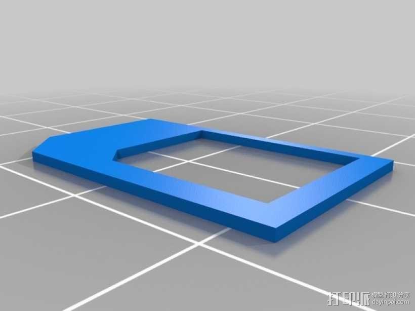 微型SIM卡 3D模型  图1