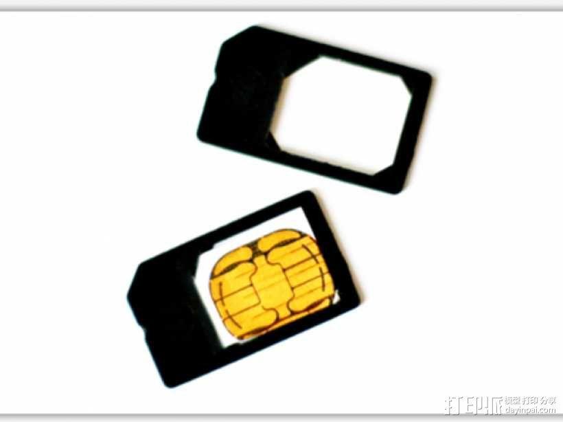 微型SIM卡 3D模型  图2