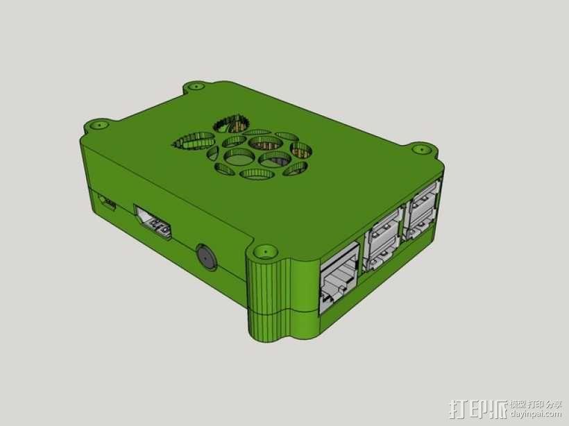 树莓派B+盒子 3D模型  图3