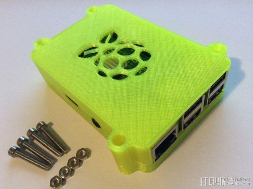 树莓派B+盒子 3D模型  图1