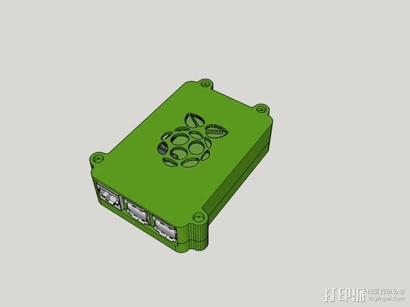 树莓派B+盒子 3D模型  图4