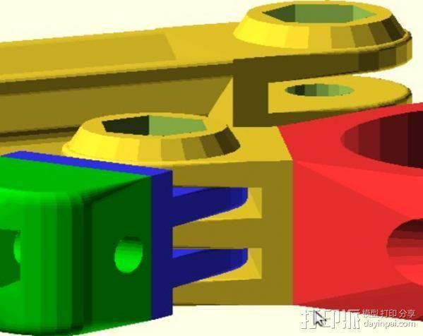定制化GoPro相机支架 3D模型  图6