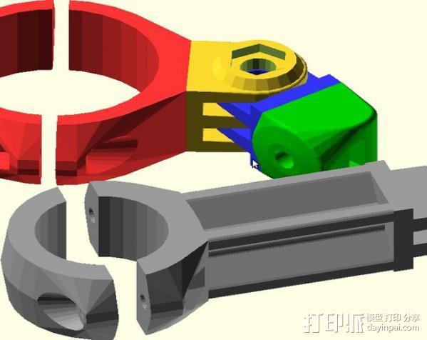 定制化GoPro相机支架 3D模型  图7