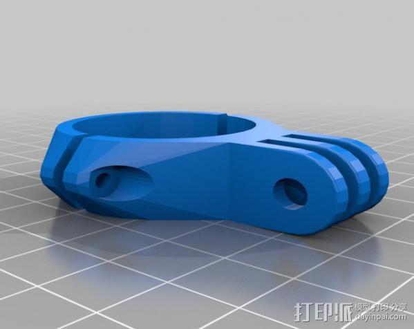 定制化GoPro相机支架 3D模型  图16