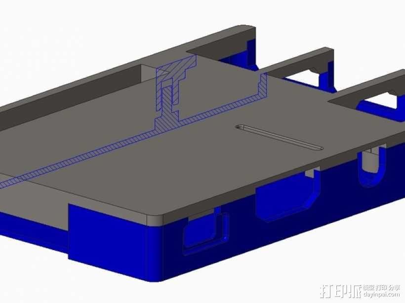 树莓派B+外壳 3D模型  图2
