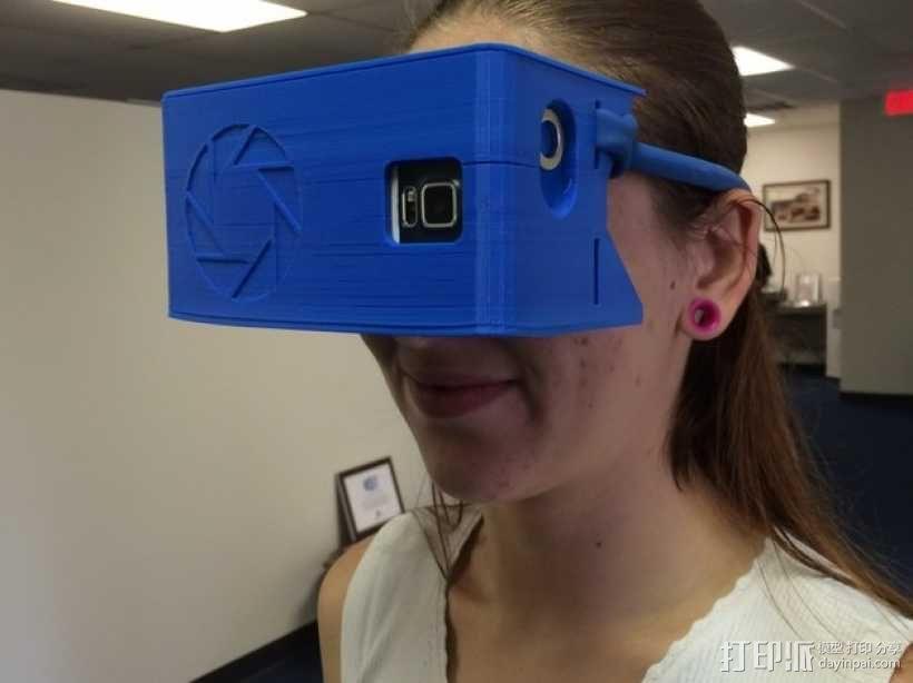 """谷歌""""纸板""""虚拟现实眼镜 3D模型  图1"""