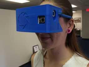 """谷歌""""纸板""""虚拟现实眼镜 3D模型"""