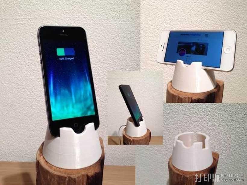 iPhone 4/4S/5/5C/5S手机架 3D模型  图1