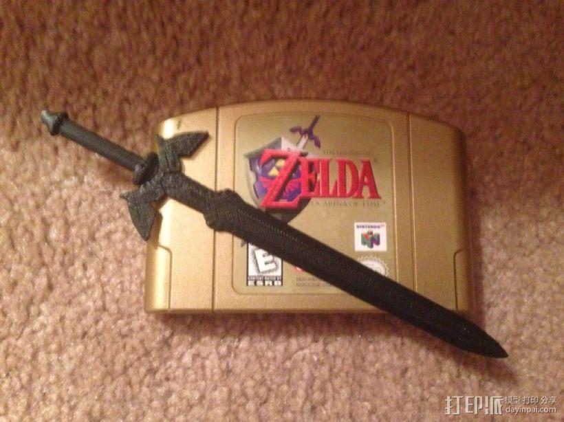 游戏《塞尔达传说》大师之剑 3D模型  图2