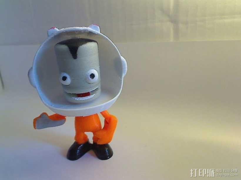 Kerbonaut太空人 3D模型  图1