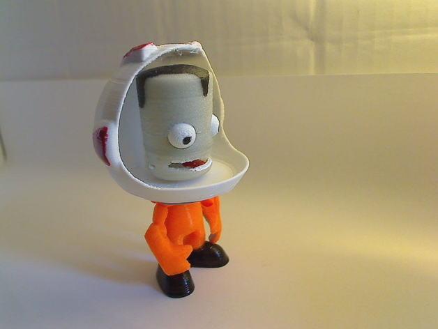 Kerbonaut太空人 3D模型  图4